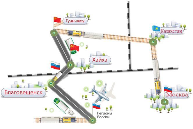 ЖД перевозки сборных грузов из Китая в Ангарск